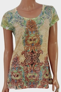 Abstract designer print T-shirt
