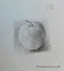 Apple drawing, Brighton Art Workshops