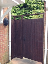Gate with bespoke side panel