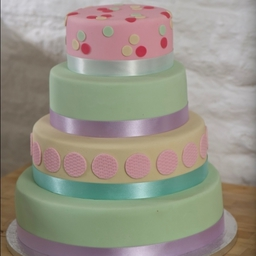 Pastel Coloured Wedding Cake
