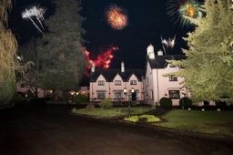 Cwrt Bleddyn wedding fireworks