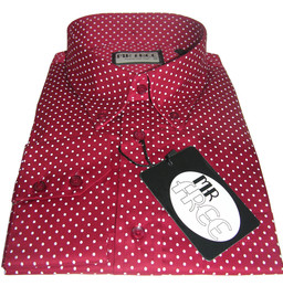 Mens Red Micro Dot Shirt