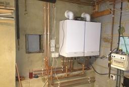the start of a twin Viessmann boiler installation.