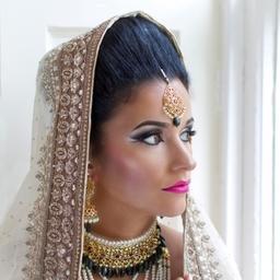 Beautiful Asian bride at Harburn House, near Edinburgh