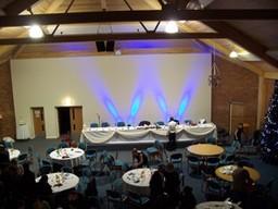 Uplighting for wedding reception
