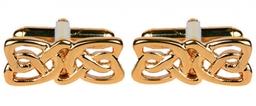 Celtic Rectangular Design Gold Plate