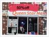 Queen star nails