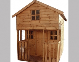 Lincoln three storey playhouse with integral balcony