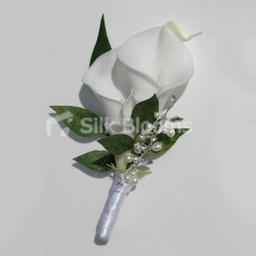 Snow White Calla Lily Buttonhole