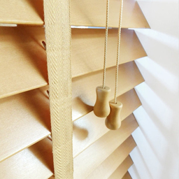 Next Day Light Oak Wood Venetian Blinds With Tapes