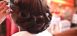 Bridal Hair  Lipstick and Curls