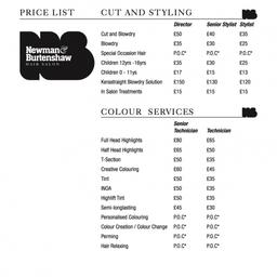 Price List A4