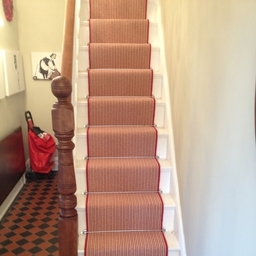 Striped Carpet Stair Runner Beach Hut  - Kersaint Cobb