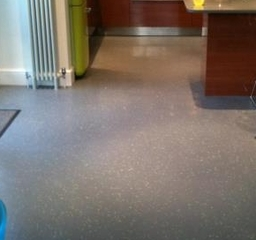 Rubber tiled floor