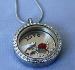 Bridal Floating Locket with FLoating Charms