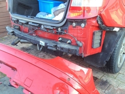 Red Bmw 1 Series Body Repair - Bumper Removed