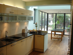 New kitchen installation, natural timber flooring and redecorating works. Camberwell, London