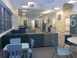 Reception and waiting areas
