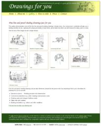 Jennifer Dixon - Custom line drawings Drupal site