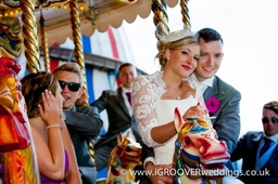 All the fun of the Fair Brighton beach wedding