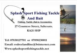 Splash Sport Fishing Tackle Card Logo