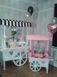 Our full size and children's mini candy carts