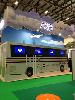A2B Transfers exhibitions stand at WTM Exhibition