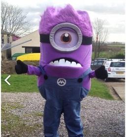 Evil minion mascot costume from £40