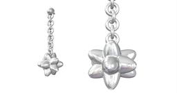 Cidaris White Gold Diamond Earrings 3D Printing