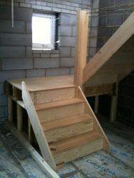 kite winder staircase in new build