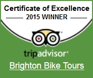 Were proud to receive a Certificate of Excellence 2015 for Brighton Bike Tours