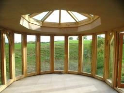 Oak conservatory, Prestbury, Cheshire.