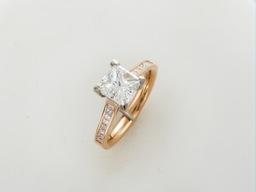 Bespoke engagement ring.Pink gold platinum ,1.55ct