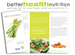 Leaflet design for Better Health Nutrition