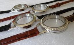 Leather Locket Bracelet - Watch Style