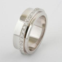WHITE GOLD AND DIAMOND BESPOKE SPINNINING RING
