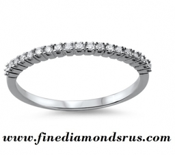Claw Set Round Brilliant Cut Diamonds Half Eternity Ring in Gold and Platinum at Fine Diamonds R us