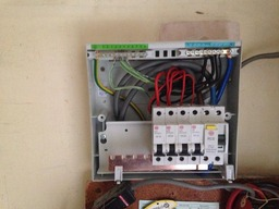 During a consumer unit change.