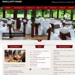 Woollcott House Wordpress Website Design - Restaurant