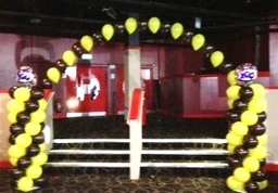 Arch And Spiral Columns for Brownies 100th Birthday Party at Butlins, Bognor Regis