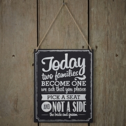 Wedding Decoartions - Two Sides Sign