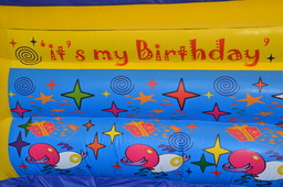 Birthday bouncy castle background