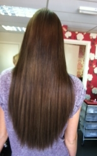 k hair after (3/4 head of extensions)