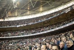 """Darren Baker print """"Football Crowd"""""""