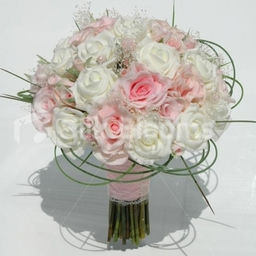Luxury Pink and Ivory Fresh Touch Rose Bridal Bouquet