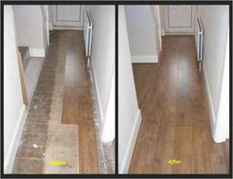Before and After Photos of a Budget Range Laminate Flooring - excellent quality and value for money!