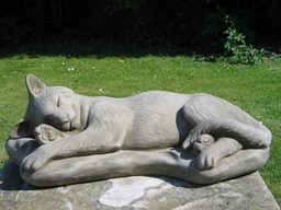 Sleeping Cat Statue