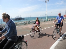 Cruise along the stunning Brighton seafront