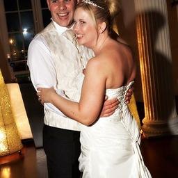 Wedding where bride & groom enjoy 1st dance