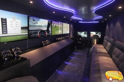 Gaming Party Bus interior